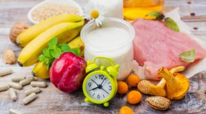 Melatonin rich foods including bananas, plums, fish, nuts
