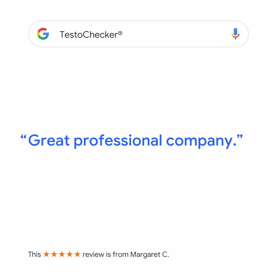 Positive review for testochecker on Google.com/reviews
