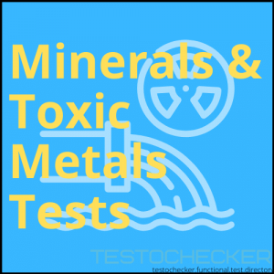 Minerals and toxic metals testing